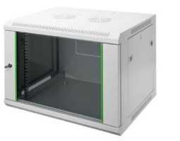 """Ormar 19"""", zidni, dvodjelni, 12U, 635x600xD450mm, serije DN-19"""