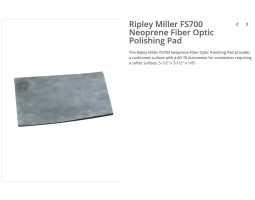 Alat, podloga od neoprena,  za poliranje konektora sa ferulom, Ripley FS700