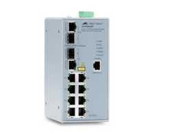 AT-IFS802SP/PoE Allied Telesis preklopnik (switch), FE, L2, SNMP, 8x10/100Tx + 2xSFP, industrijski, -48V DC, PoE