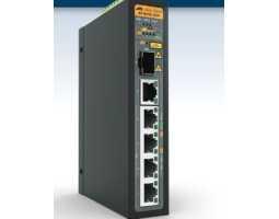 AT-IS130-6GP-80 Allied Telesis preklopnik (switch), FE, L2, SNMP, 6x100/1000Tx PoE + 2xSFP, industrijski, -48V DC, PoE+, EPSRing