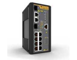 AT-IS230-10GP-80 Allied Telesis preklopnik (switch), FE, L2, SNMP, 8x100/1000Tx + 2xSFP, industrijski, -48V DC, PoE+, EPSRing