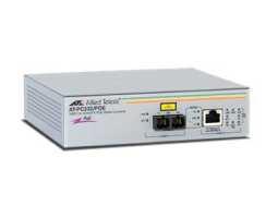 AT-PC232/PoE  Allied Telesis pretvornik (media converter), FE, 10/100TX na 100Fx višemodni SC, PoE