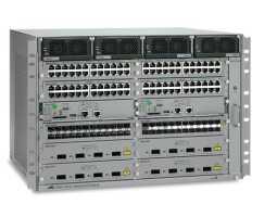 "AT-SBX3112-8XR Allied Telesis kućište, Switchblade X3100, 19"", komplet sa napajačima i 2 modula 31XZ4, za 8 XFP priključka"