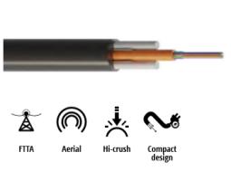 Kabel, optički, antenski, 2-vlakna, 09/125um G652d, Unitube, w/gel, vanjski, visokootporan, PE, 3500N, 5.8mm