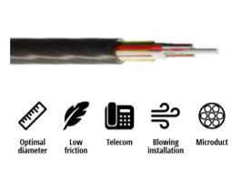 Kabel, optički, 1x4, 09/125um, G.652d, Multitube w/gel, HDPE, vanjski, micro-MetroJET, 500N, 4.2mm