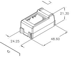 Modul, prilagodni, za Tracjack modul na GEWISS Playbus, 10 pack, crni