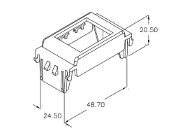 Modul, prilagodni, za Tracjack modul na VIMAR Idea, 10 pack, crni