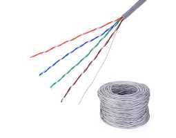 Kabel, Cat5e U/UTP, fleksibilni, za prespojne kabele, PVC