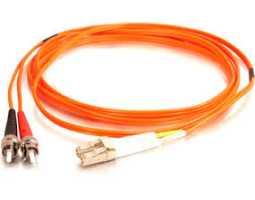 Kabel, optički, prespojni, 50/125um, ST - LC, Duplex, 1m, LSZH