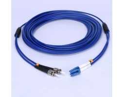 Kabel, optički, prespojni, 50/125um, konektori po izboru, 10m, LSZH, armirani, vanjski, 2-nitni