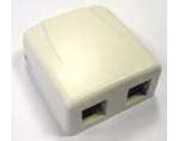 Priključna kutija, nadžbukna, za 2 modula Keystone, bijela