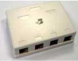 Priključna kutija, nadžbukna, za 4 modula Keystone, bijela
