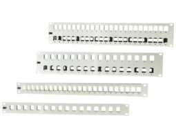 "Panel, modularni, 24xKeystone, 19""-1U, prazan, crni, 3M Volition,"