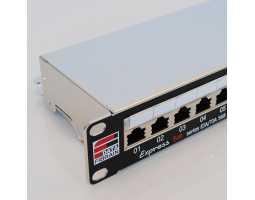 "Panel, Cat5e STP, prespojni, 24xRJ45, krimpanje Krone, 19""-1U, sa nosačem kabela"
