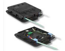 Kabelska spojnica, do 2+2 kabela, za do 24 vlakana, četvrtasta, zračna-podzemna