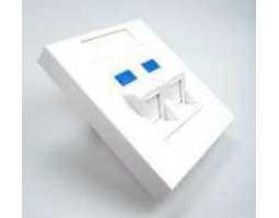 Priključna kutija, podžbukna, za 2 modula Keystone 45°, 80x80mm, Euro, bijela