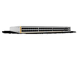 x930-52XSQ Allied Telesis preklopnik (switch), 100GbE, SNMP, L3+, 48x1G/2.5/5/10G UTP + 4x40G/100G QSFP+/QSFP28 + XEM2, stakabilan