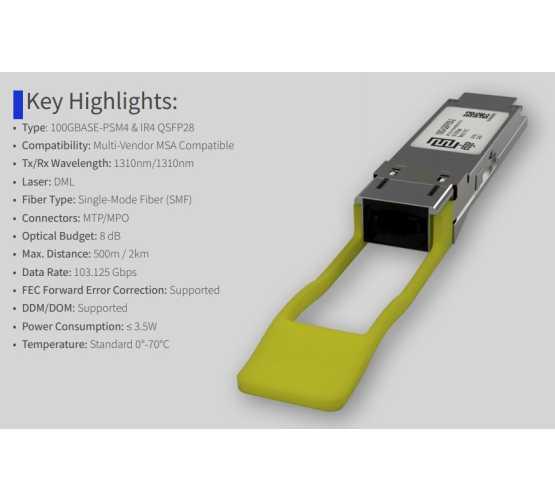 Modul, QSFP28, 100GbE-LR4, SM LC, 1310nm/2km, ATI/Cisco kompatibilan   3527