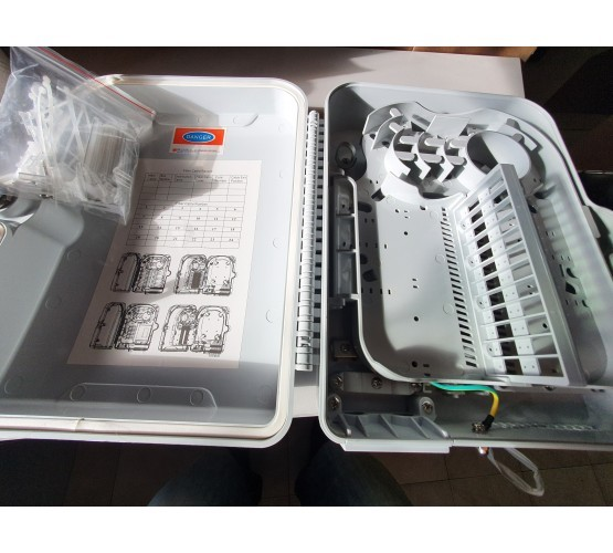 Priključna kutija, nadžbukna, optička, za 24 SC/DLC spojnika, bez spojnika, dimenzije 22x30xh11cm, vanjska, sa ključem 4758