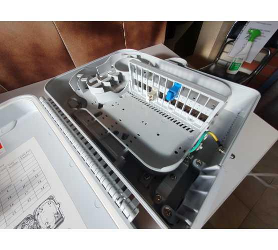 Priključna kutija, nadžbukna, optička, za 24 SC/DLC spojnika, bez spojnika, dimenzije 22x30xh11cm, vanjska, sa ključem 4757