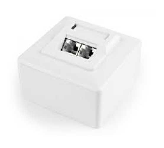 Priključnica, nadžbukna, 2xSTP Cat6, Krone krimpanje, 60x60xD25mm, bijela, integralna 3371