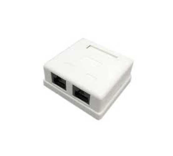 Priključnica, nadžbukna, 2xUTP Cat5e, Krone krimpanje, 60x60xD25mm, bijela, intergralna 3369