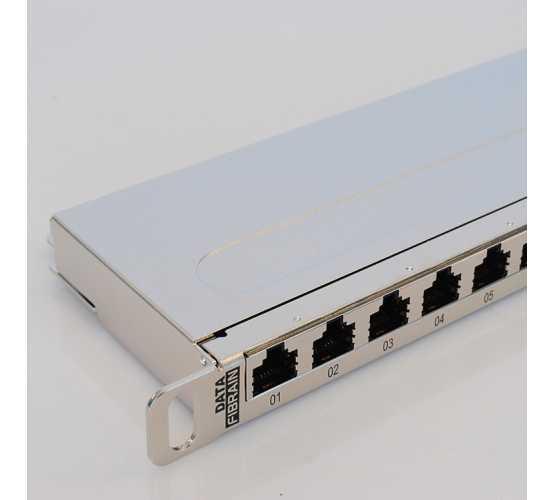 "Panel, Cat5e STP, prespojni, 24xRJ45, krimpanje Krone, 19""-0,5U, sa nosačem kabela 3312"