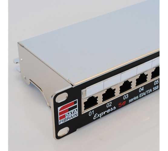 "Panel, Cat5e STP, prespojni, 24xRJ45, krimpanje Krone, 19""-1U, sa nosačem kabela 3310"