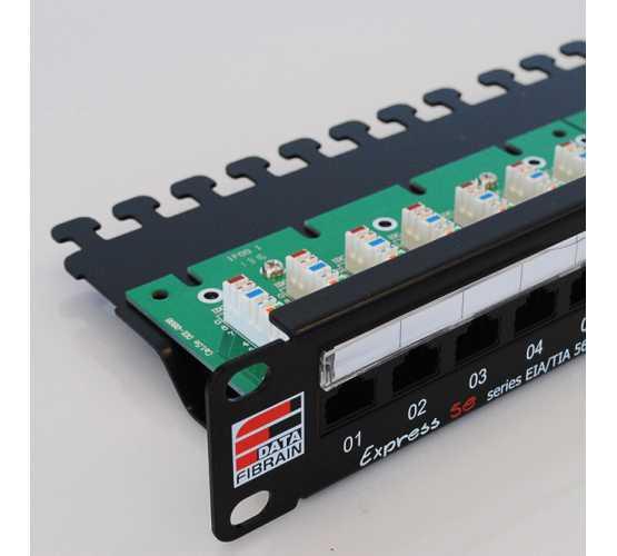 "Panel, Cat5e UTP, prespojni, 24xRJ45, krimpanje Krone, 19""-1U, sa nosačem kabela 3309"