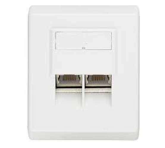 Priključna kutija, podžbukna, Cat5e STP 2xRJ45,  ivory, integralna  3372